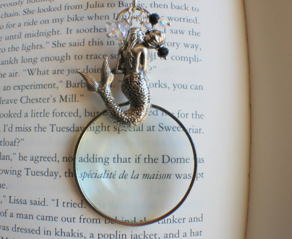 Mermaid Magnifying Glass Pendant