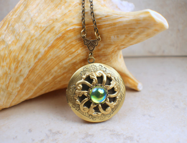 Green Peridot PhotoLocket