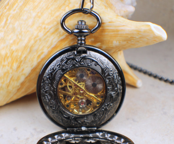 Black Dragon Pocket Watch