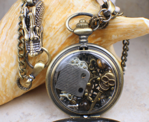 Bronze Dragon Steampunk Locket
