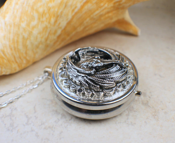 Raven Music Box Locket
