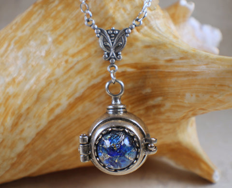 pendant antique picture locket necklace carat opal sterling edwardian deco ball silver jewelry lockets art master necklaces set id gold vintage v