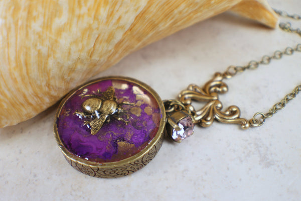 Bumblebee Art Nouveau Necklace