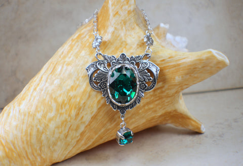 Emerald Swarovski Crystal Necklace