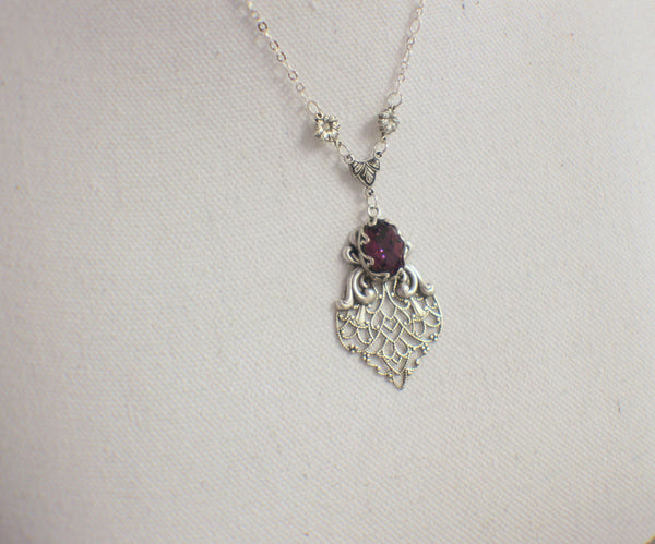 Amethyst Swarovski Crystal Necklace