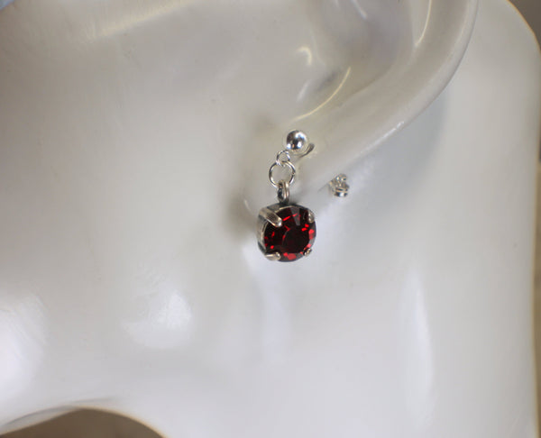 Siam Red Swarovski Crystal Jewelry Set