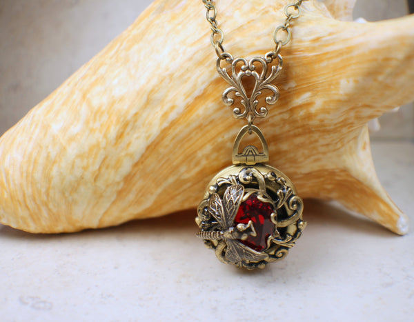 Siam Red Crystal Multi Photo Locket