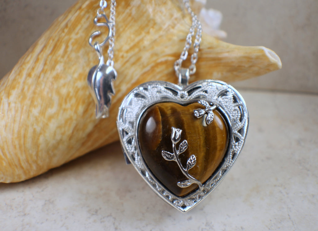 Tiger Eye Music Box Locket