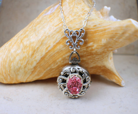 Rose Crystal Multi Photo Locket
