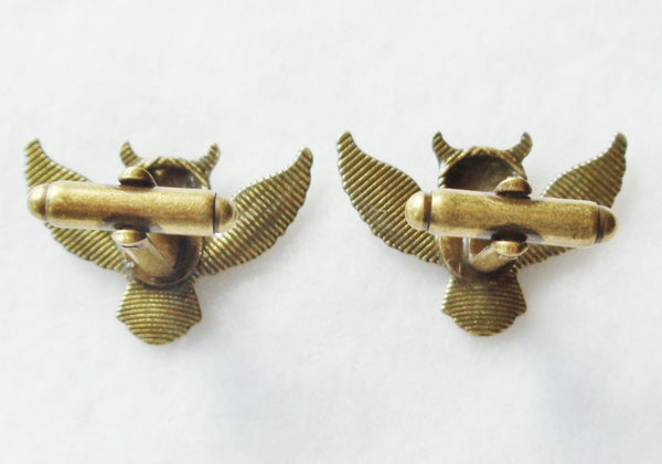 Owl cufflinks, bronze owl cufflinks - Char's Favorite Things - 5