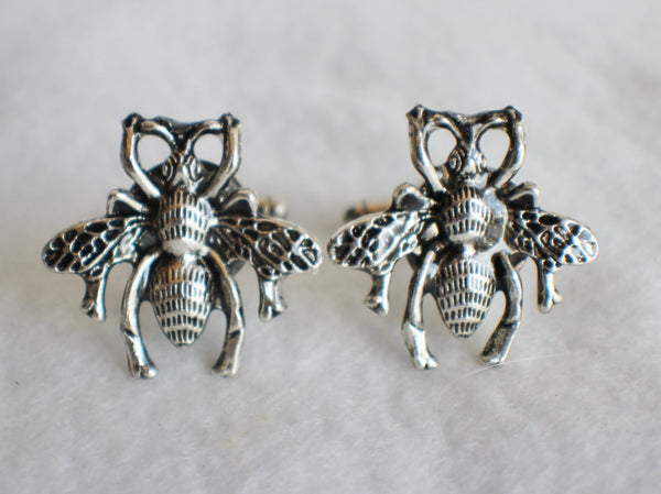 Bumble Bee cufflinks, silver bumble bee cufflinks - Char's Favorite Things - 3