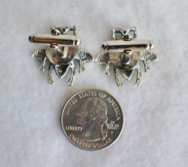 Bumble Bee cufflinks, silver bumble bee cufflinks - Char's Favorite Things - 5
