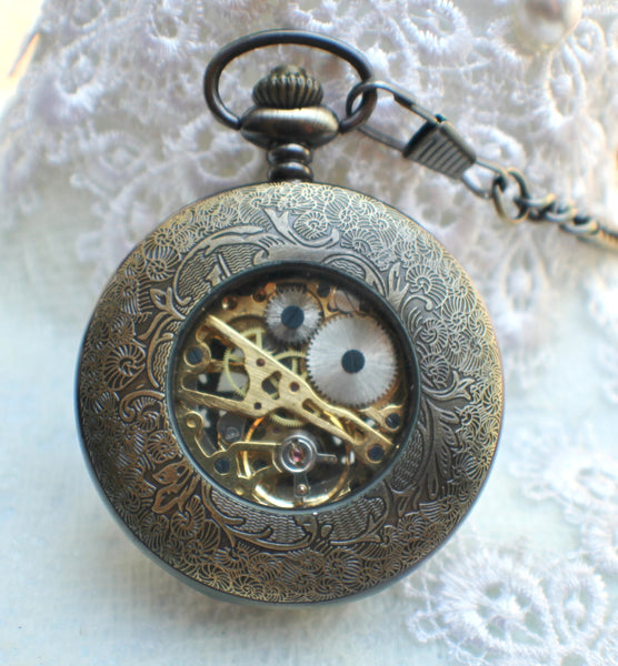 Sailboat Mechanical Pocket Watch - Char's Favorite Things - 5