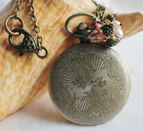 Cupid watch pendant, pocket watch with cupids mounted on front cover. - Char's Favorite Things - 5