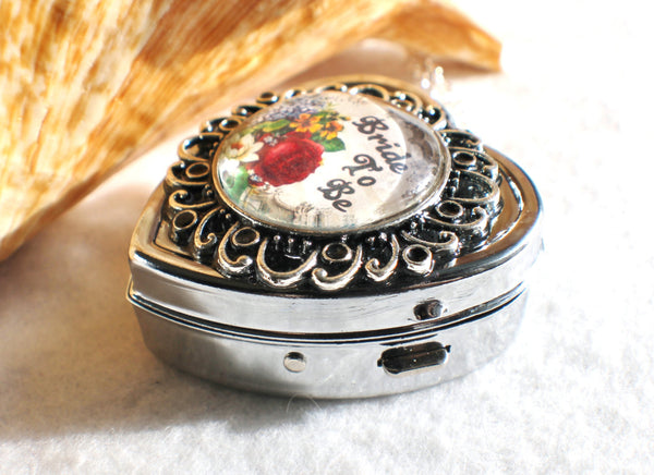 Music box locket, heart shaped locket with music box inside, in silver or bronze for Bride. - Char's Favorite Things - 2