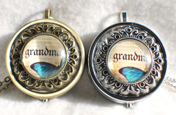 Butterfly Music Box Locket for Grandma - Char's Favorite Things - 3