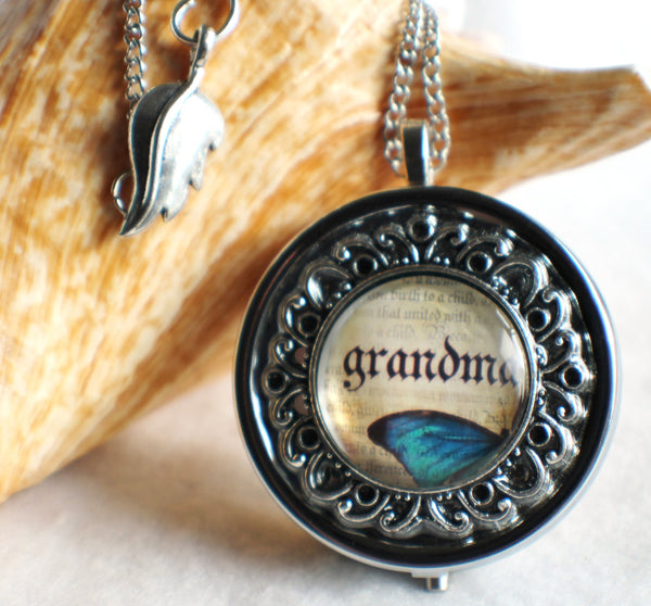 Butterfly Music Box Locket for Grandma - Char's Favorite Things - 1