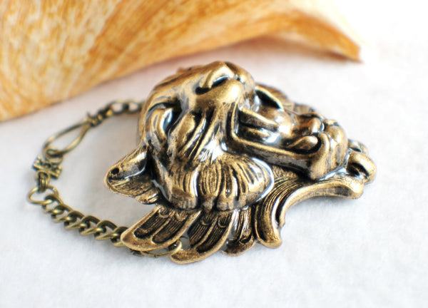 Lion Bracelet, Lion with Wings Bracelet in Bronze - Char's Favorite Things - 3