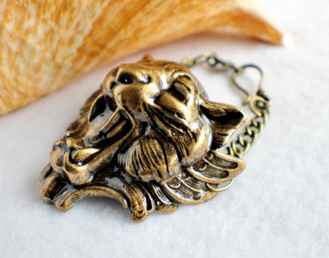 Lion Bracelet, Lion with Wings Bracelet in Bronze - Char's Favorite Things - 1