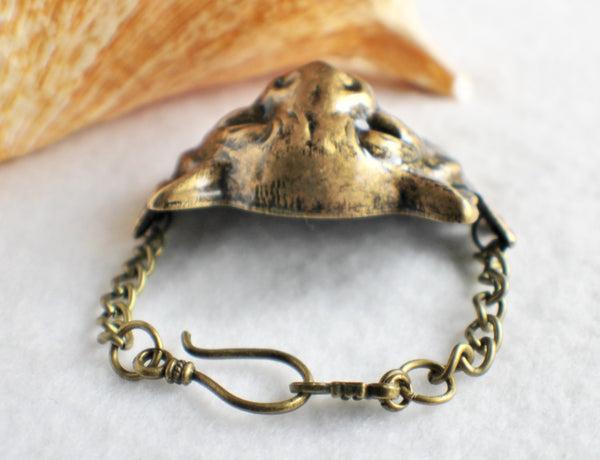 Lion Bracelet, Lion with Wings Bracelet in Bronze - Char's Favorite Things - 4