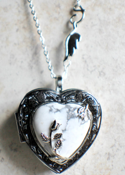 Turquoise heart music box locket - Char's Favorite Things - 4