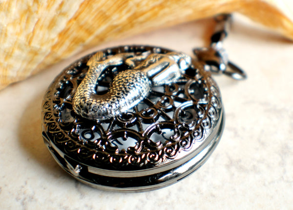 Mermaid battery operated pocket watch. - Char's Favorite Things - 2