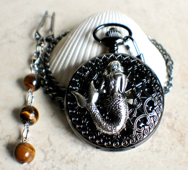 Mechanical mermaid pocket watch. - Char's Favorite Things - 3