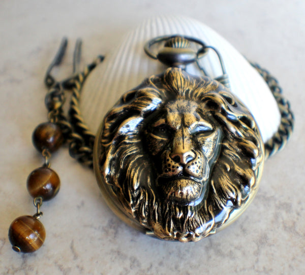 Lion Head Battery Operated Pocket Watch - Char's Favorite Things - 3