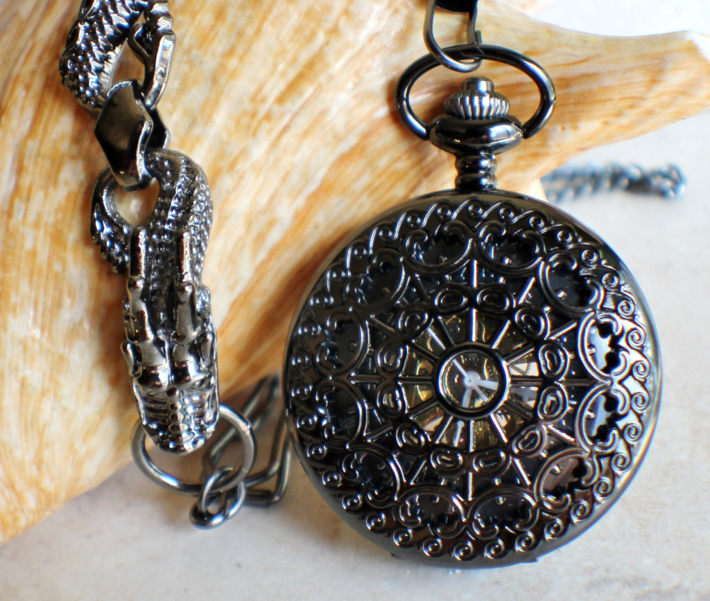 Black Dragon Pocket Watch - Char's Favorite Things - 1