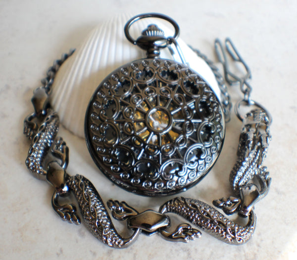 Black Dragon Pocket Watch - Char's Favorite Things - 2