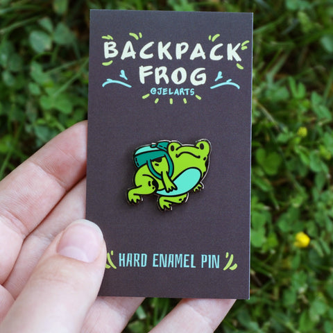 Backpack Frog Enamel Pin