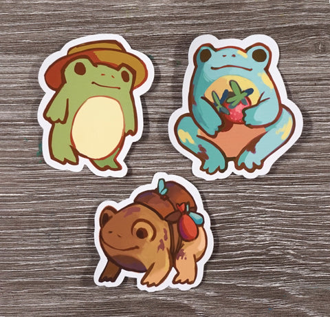 Toads & Frogs - Sticker set