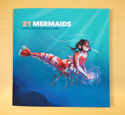 21 Mermaids Print Book