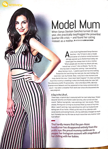 Sonya Davidson Motherhood May Issue