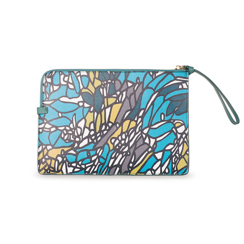 Medium Clutch - Atienza Blue