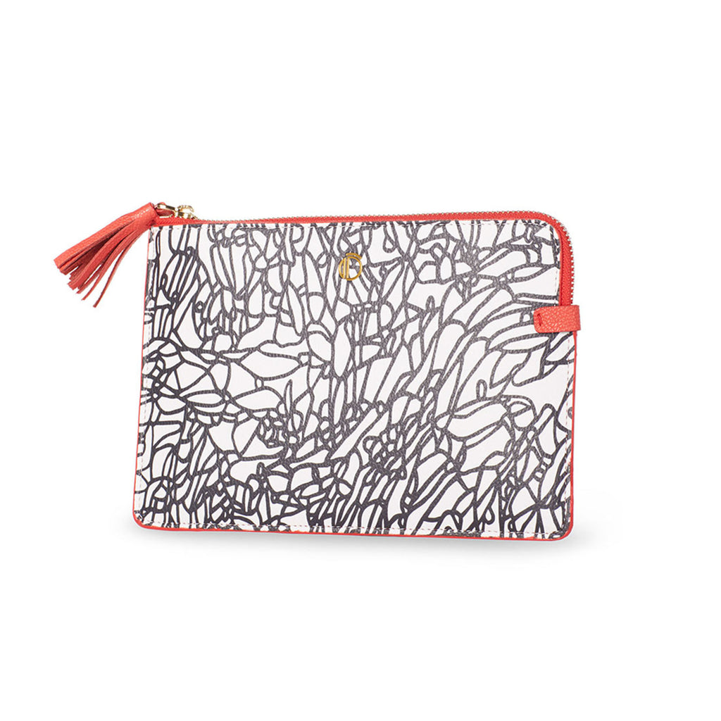 Small Clutch - Atienza Black & White