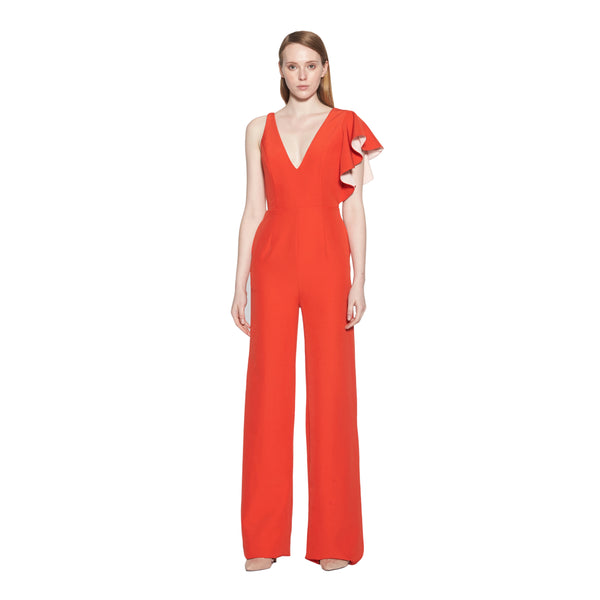 Carrie Colorblock Ruffled Jumpsuit