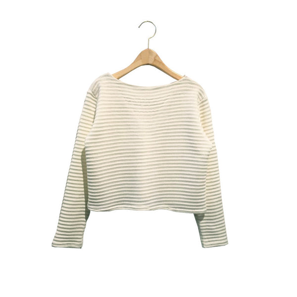 Back String Knit Top