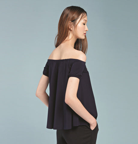 Bending Off-shoulder Top - Black