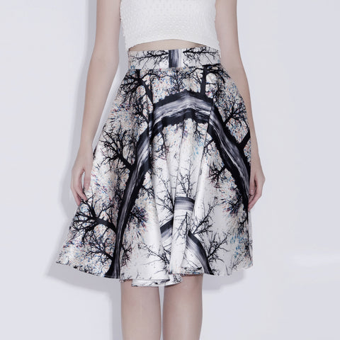 Brenna Full Circle Printed Skirt