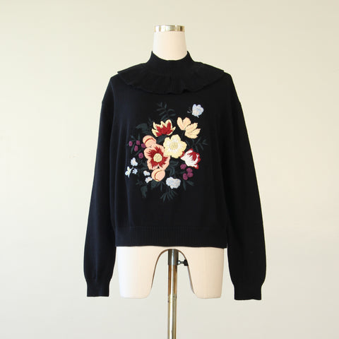 Handmade Multi Applique Knit Pullover