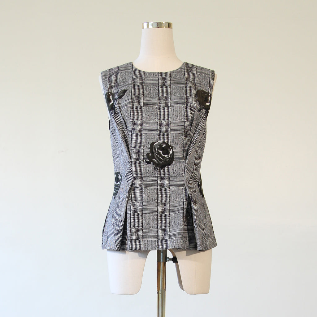Jacquard Sleeveless Blouse