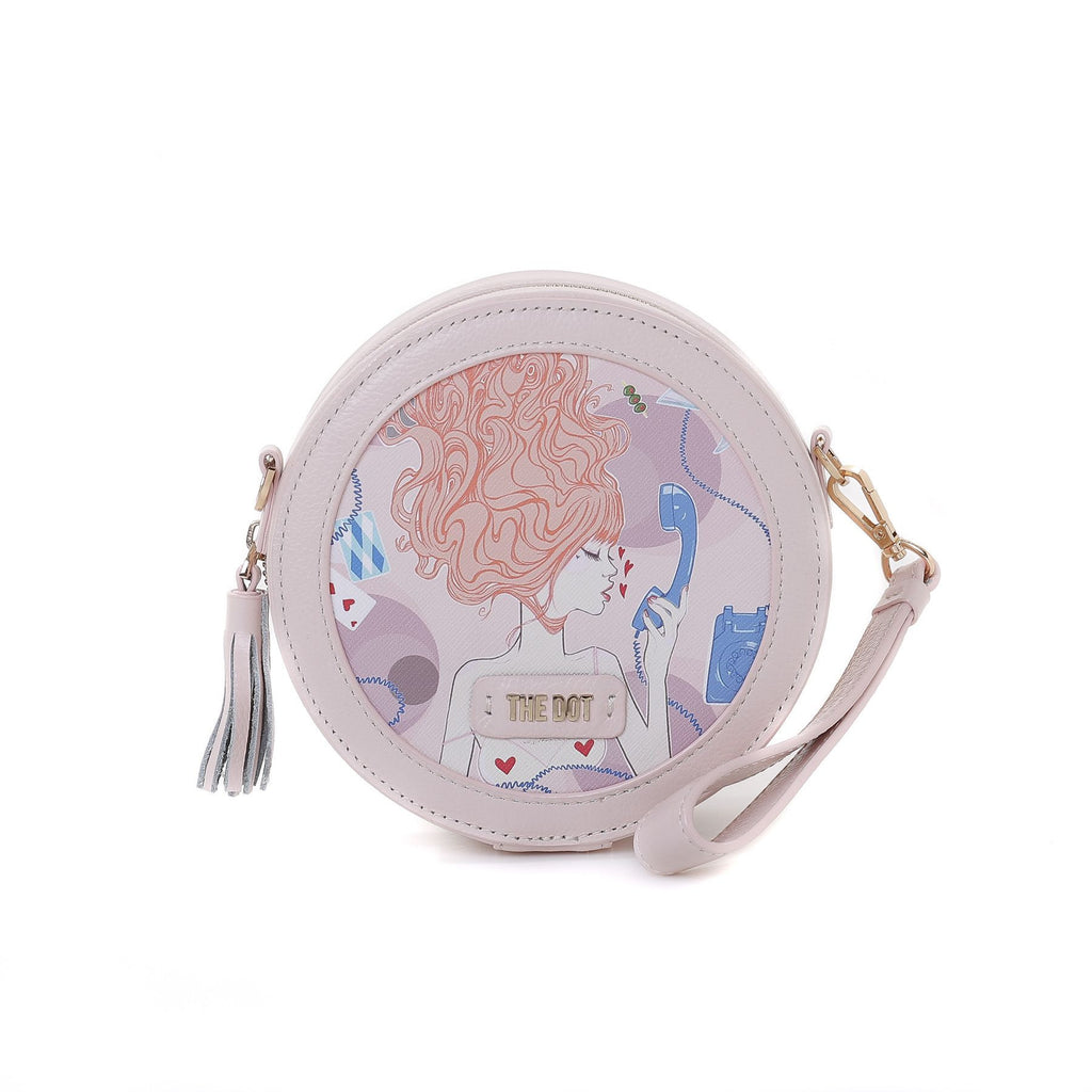 Call Me Baby Round Shoulder Bag