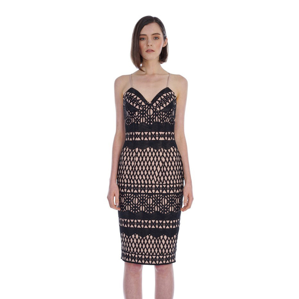 Caroline Embroidered Pencil Dress