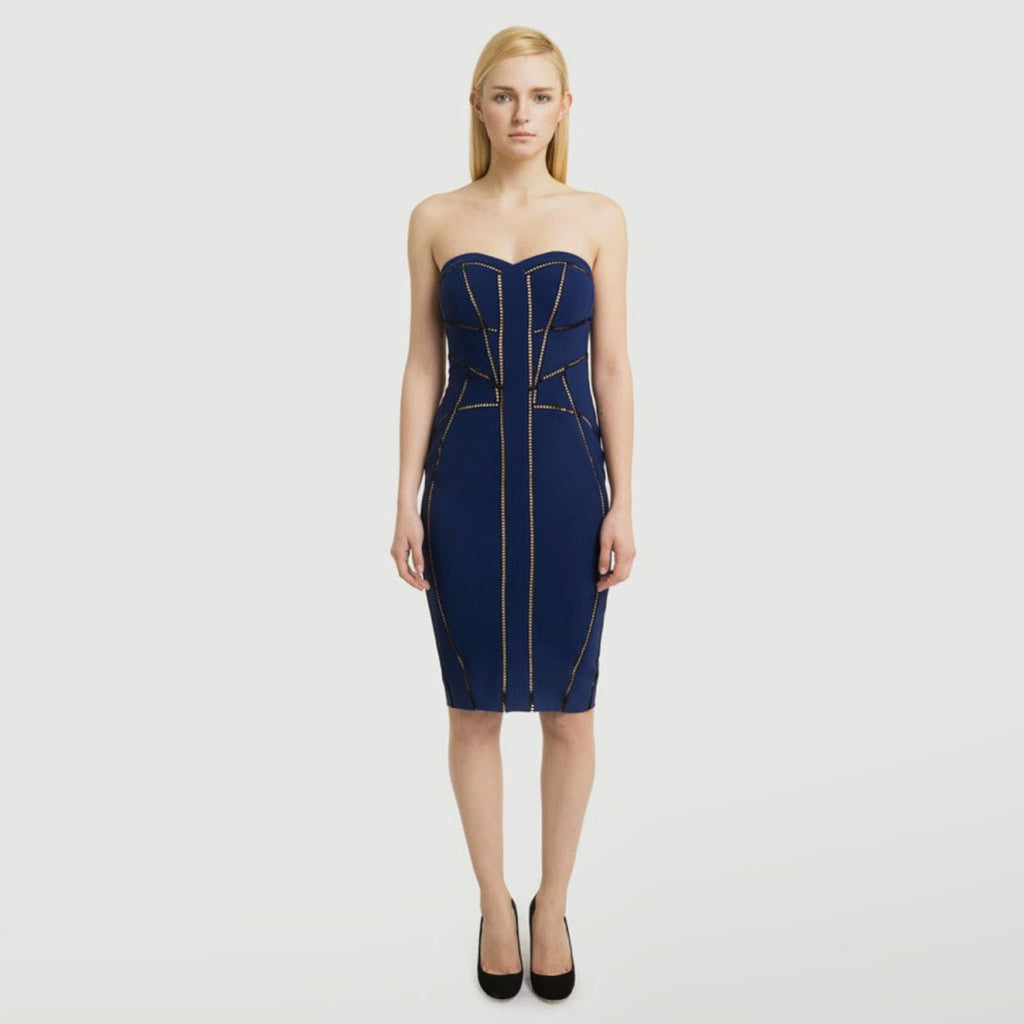 Byway Embroidered Bustier Dress