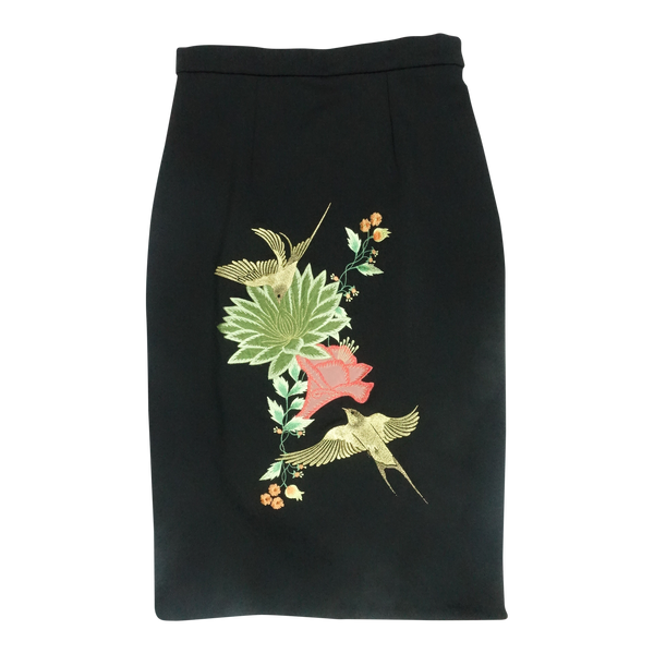 Pencil Skirt with Embroidery