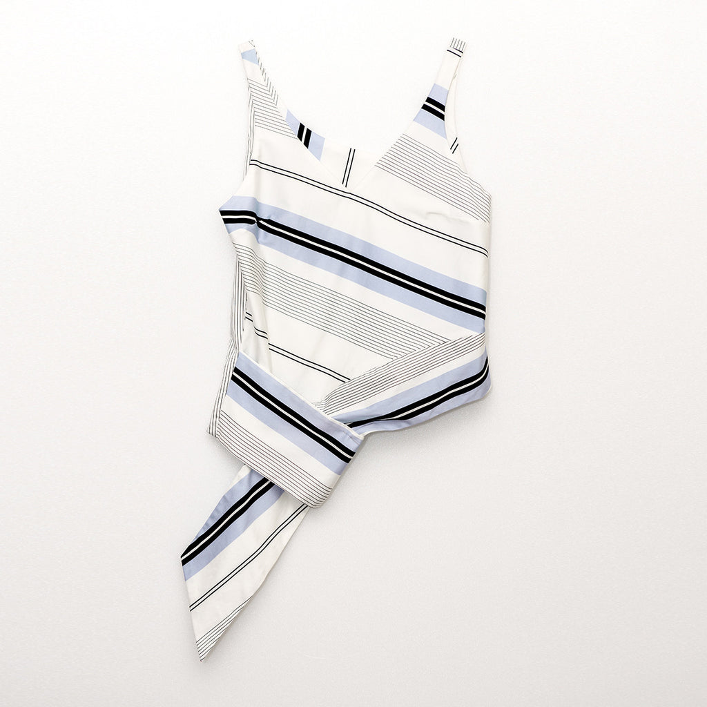 Sophia Poplin Striped Tank Top