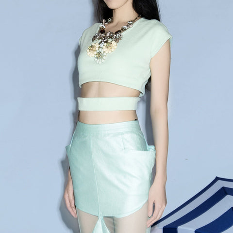 Dixie Crop Top Mint