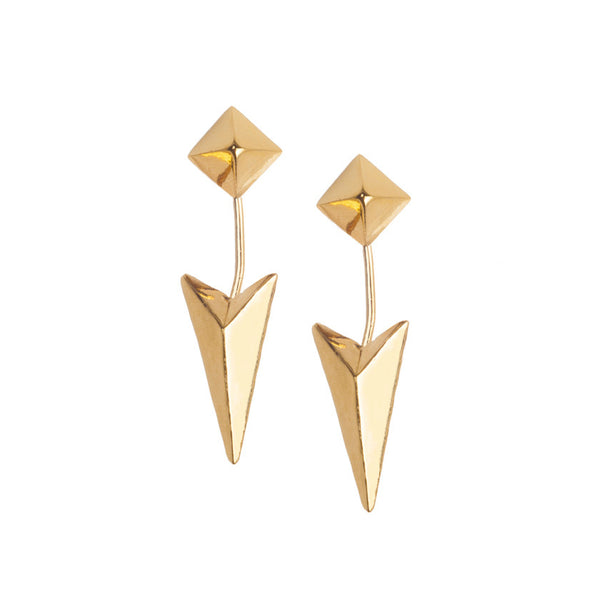 Surii Arrowhead Earrings - Gold