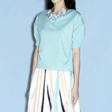 Eden Embossed Stud Top Mint